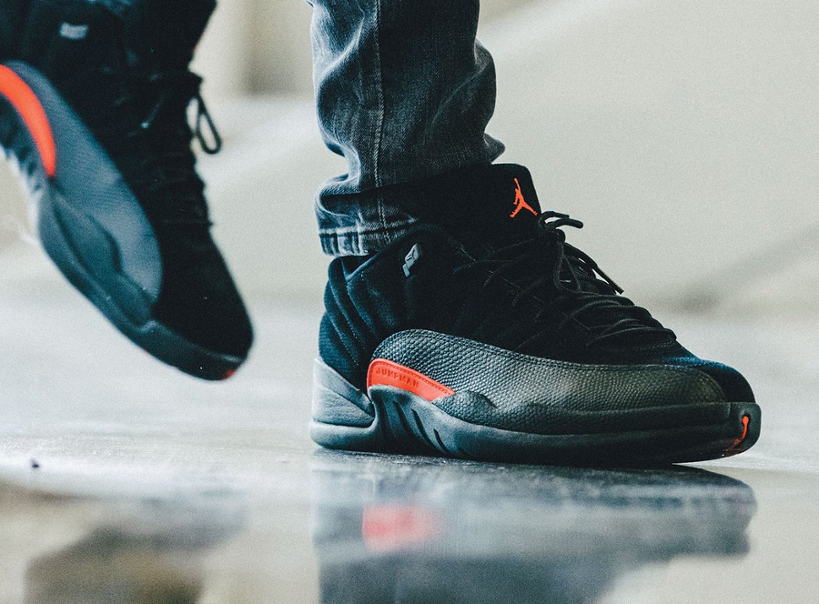 Chaussure Air Jordan 12 XII Retro Low 'Black Max Orange' (homme & femme)