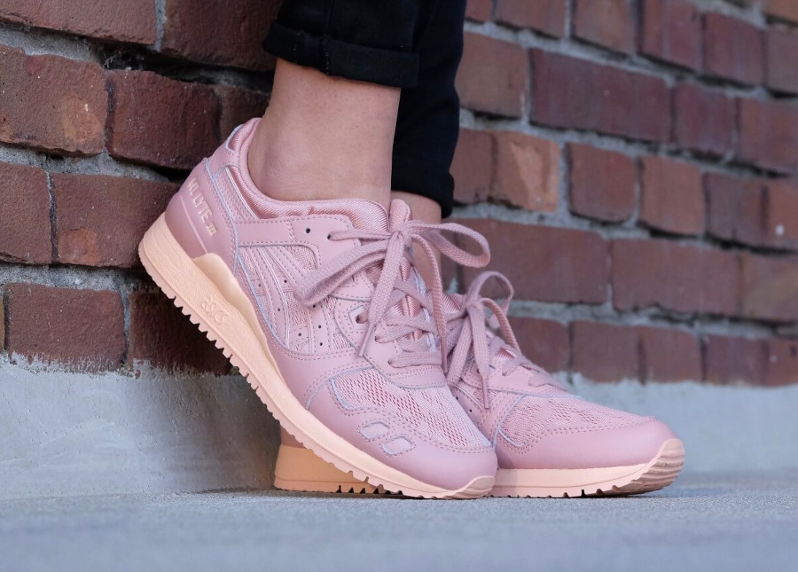 asics gel lyte beige rose
