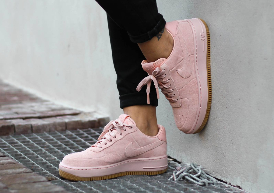 meilleur authentique 620d7 3be7d Nike Air Force 1 Upstep LX Suede 'Arctic Orange' (femme)
