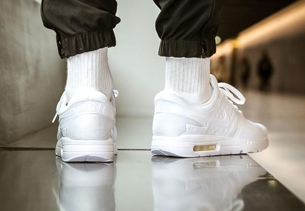 Chaussure Nike Air Max Zero 0 Essential Blanche 'All White' (2)