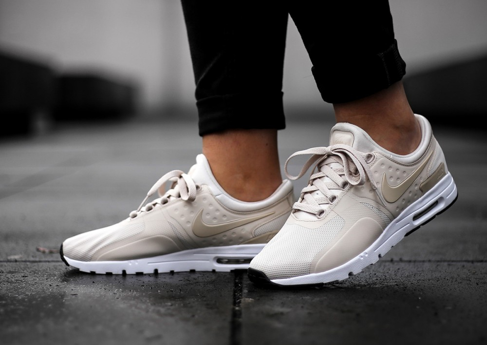 énorme réduction 63aa1 073ef Nike Air Max Zero Beige Oatmeal Orewood Brown (femme)