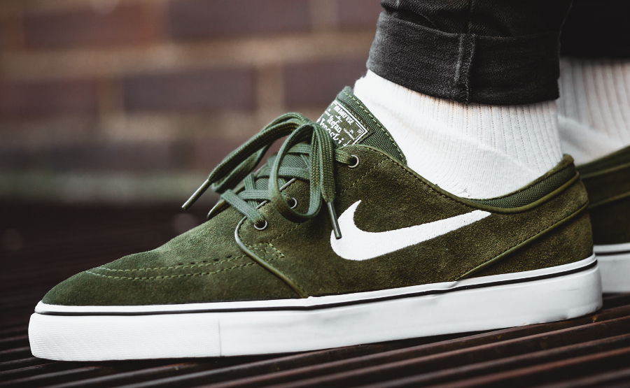 Chaussure Nike SB Stefan Janoski Max Olive Pack Legion Green (daim vert) (3)