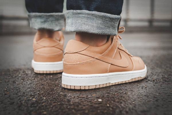 Chaussure NikeLab Dunk Lux Low 'Beige' Vachetta Tan (3)