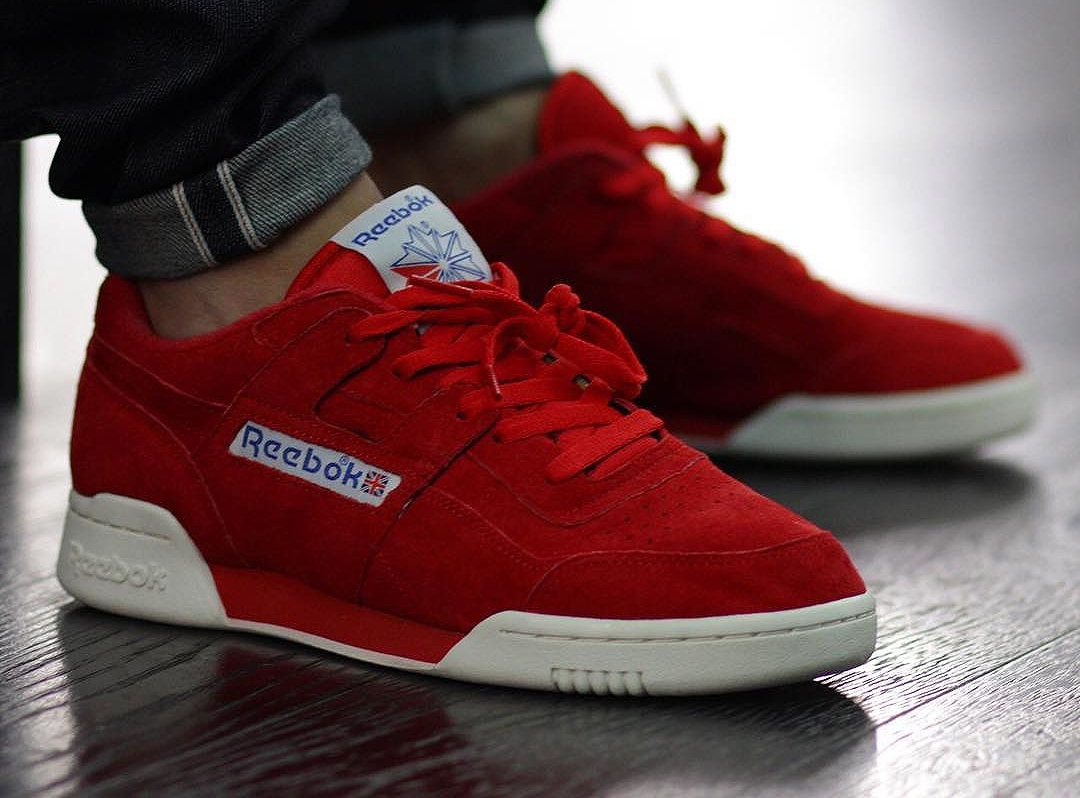 Chaussure Reebok Workout Plus Vintage Suede Primal Red (daim rouge) (1)