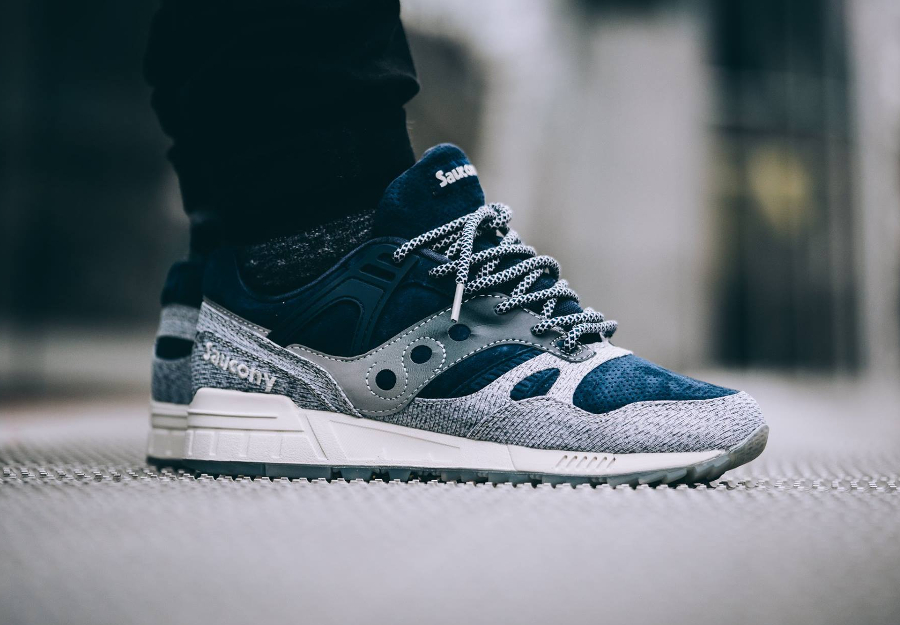 Chaussure Saucony Grid SD Dirty Snow II Pack Grey Navy