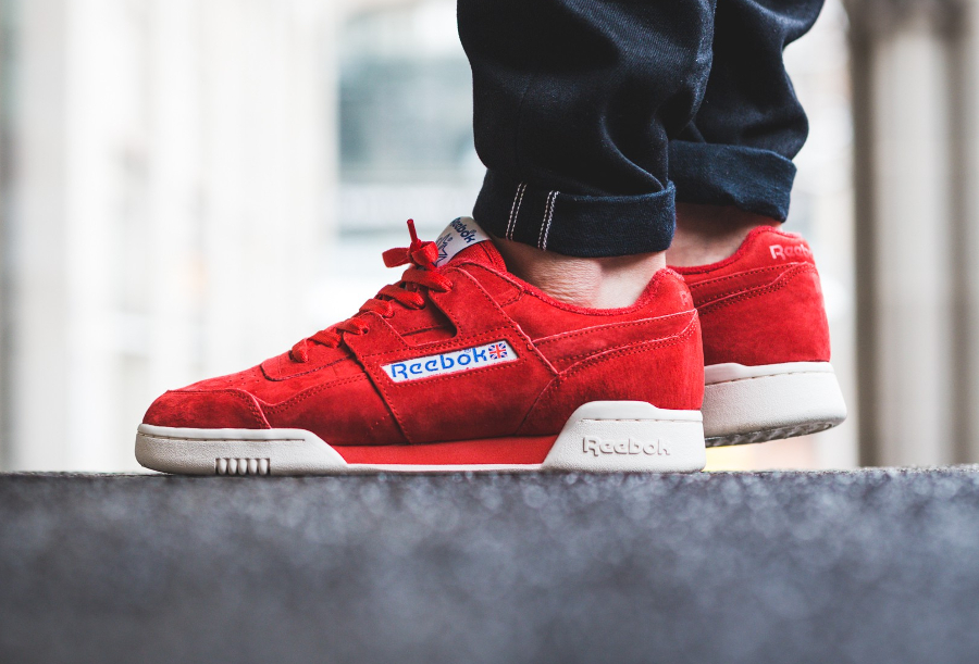 Reebok Workout Plus Vintage daim rouge (1)