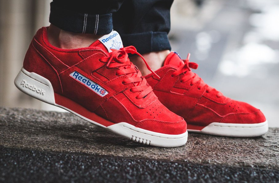 Reebok Workout Plus Vintage daim rouge (2)
