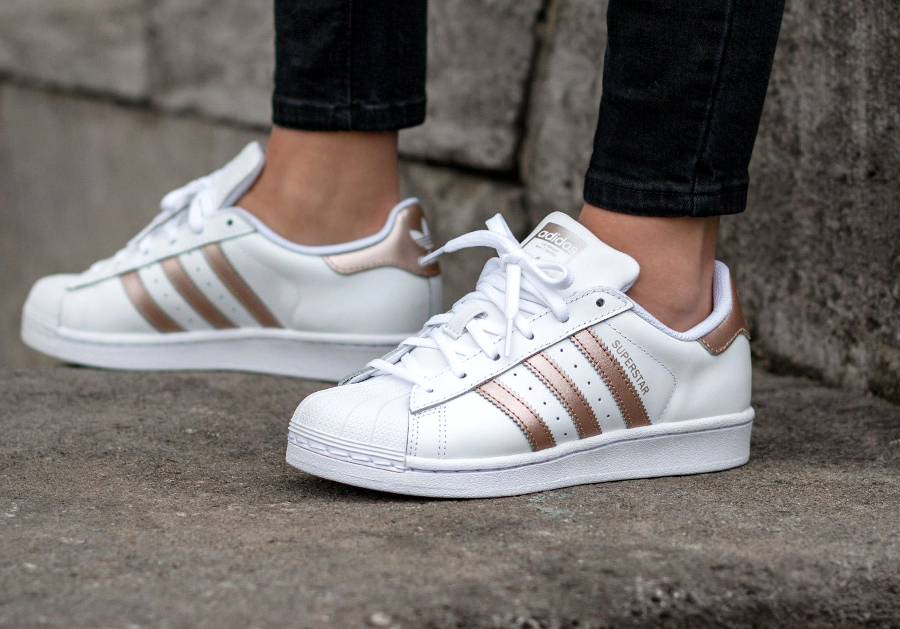 Adidas Superstar 80's W 'Metallic Red Bronze Stripes' (femme)