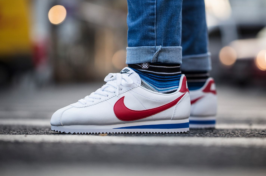 Nike Classic Cortez Leather White Femme Og 'Forrest Gump' White Leather Red fa97fe
