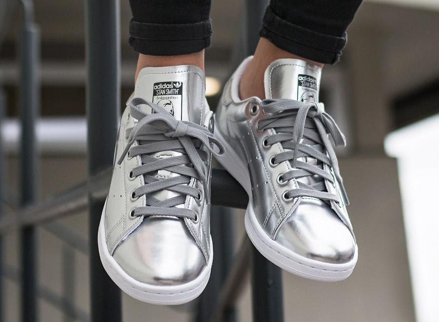 soldes-Adidas-Stan-Smith-W-Silver-Metallic-pas-cher
