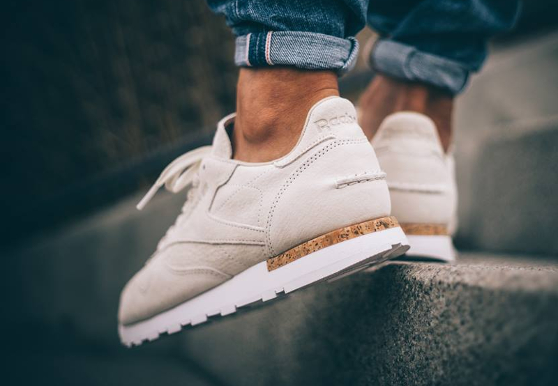 soldes-Reebok-Classic-CL-Leather-LST-Cork-blanche-pas-cher