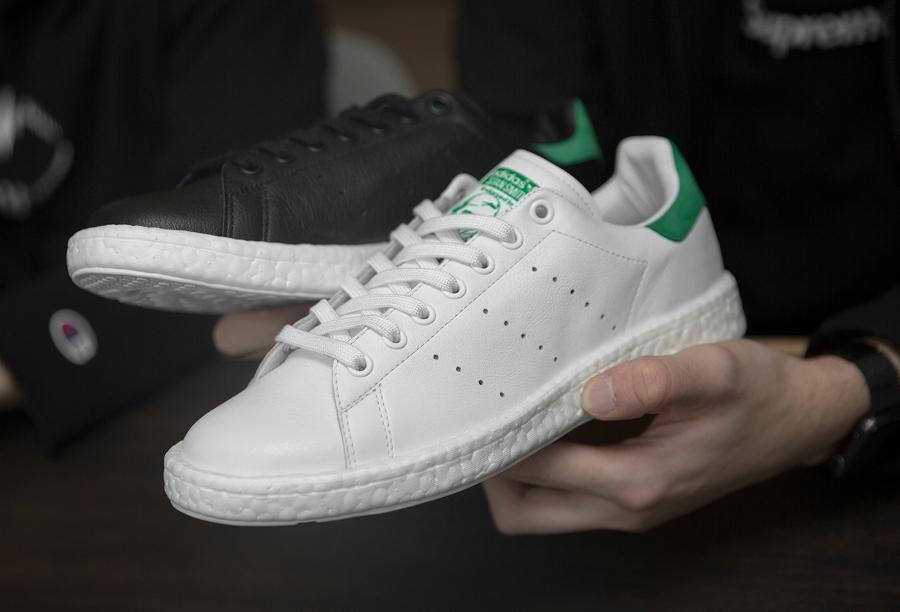 Adidas Stan Smith OG semelle Boost Blanche Verte