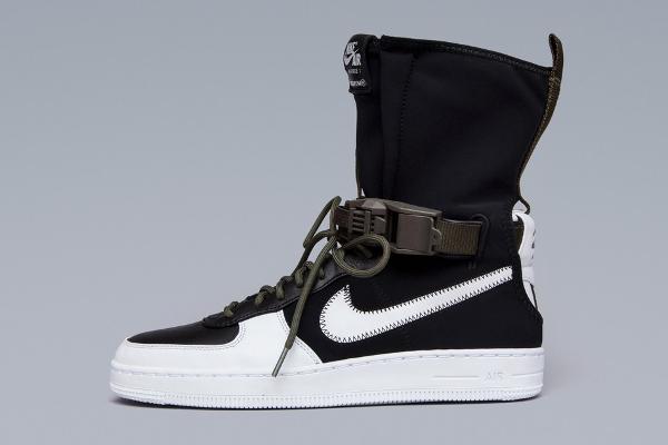 Basket Acronym x NikeLab Air Force 1 Downtown Hi SP Black White (1)