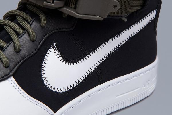 Basket Acronym x NikeLab Air Force 1 Downtown Hi SP Black White (6)