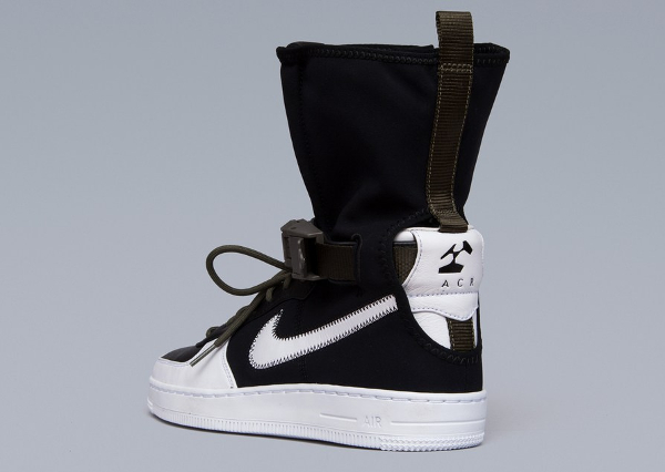 Basket Acronym x NikeLab Air Force 1 Downtown Hi SP Black White (8)