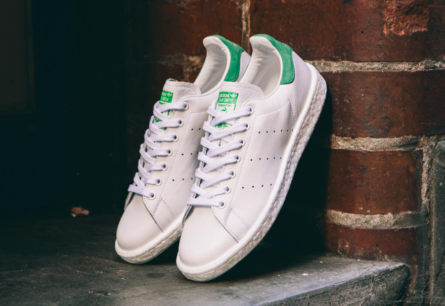 Basket Adidas Stan Smith Boost OG White Green (1)