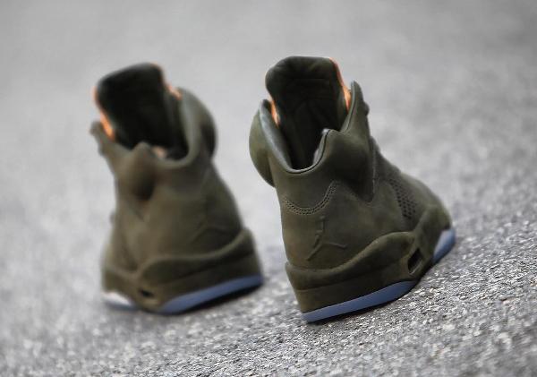 Basket Air Jordan 5 Retro PRM Take Flight vert militaire (2)