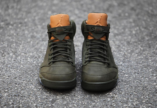 Basket Air Jordan 5 Retro PRM Take Flight vert militaire (4)