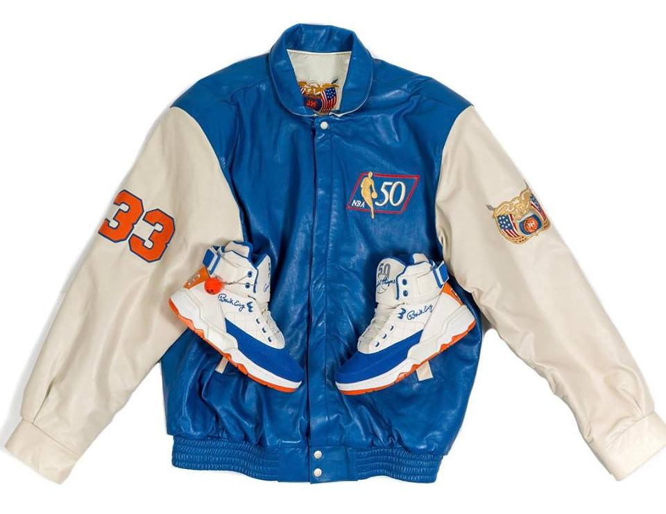 Basket Ewing 33 Hi 50 Greatest Players Ceremony White Blue Orange (0)