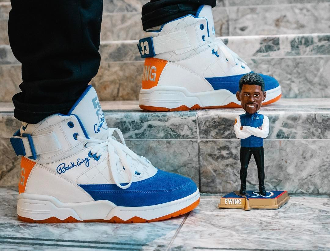 Basket Ewing 33 Hi 50 Greatest Players Ceremony White Blue Orange (4)