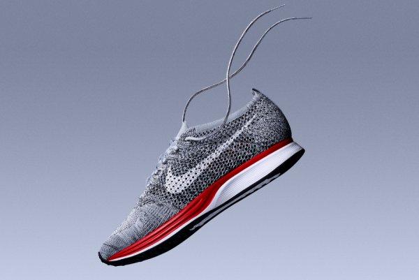 Basket Nike Flyknit Racer No Parking Wolf Grey Red (1)