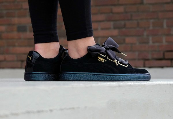 Puma Suede Heart Satin W 'Black'