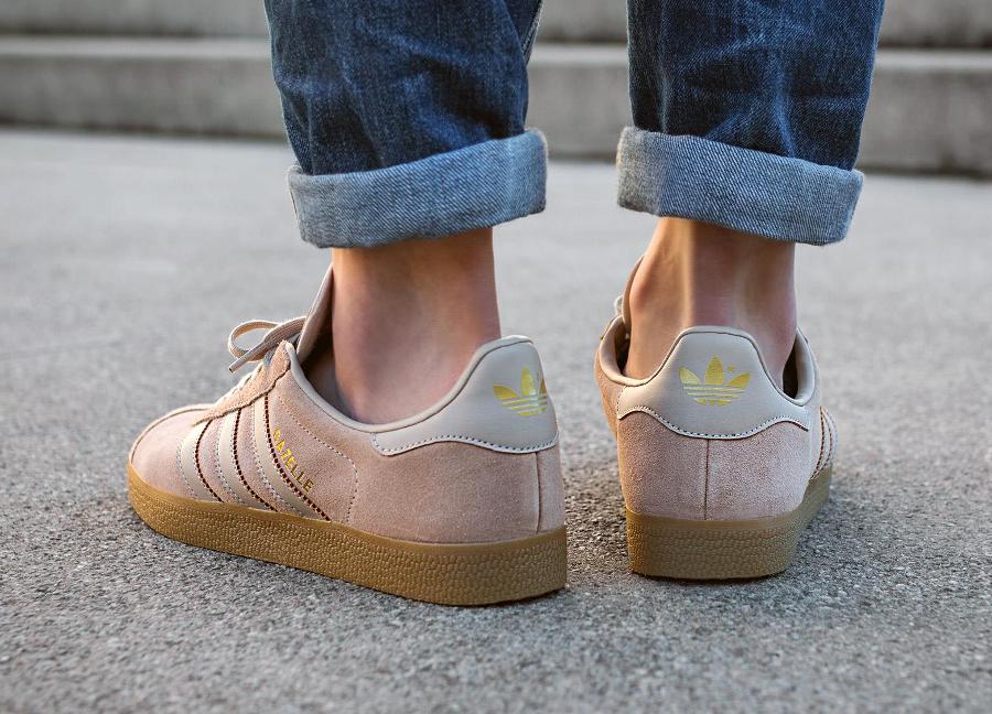 Chaussure Adidas Gazelle Suede Sand Clay Brown Gum (daim beige) (3)