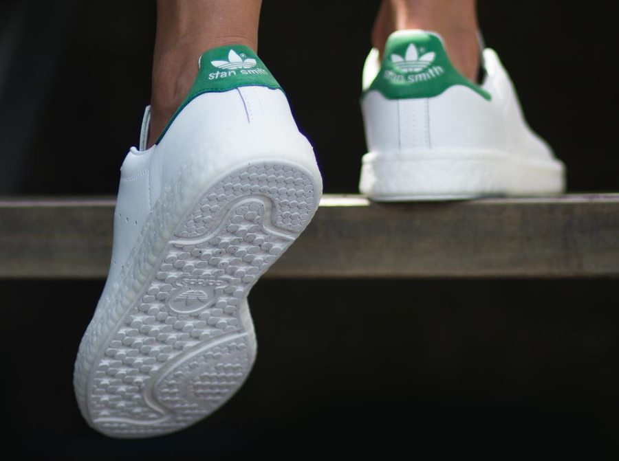 Chaussure Adidas Stan Smith OG semelle Boost Blanche Verte (1)