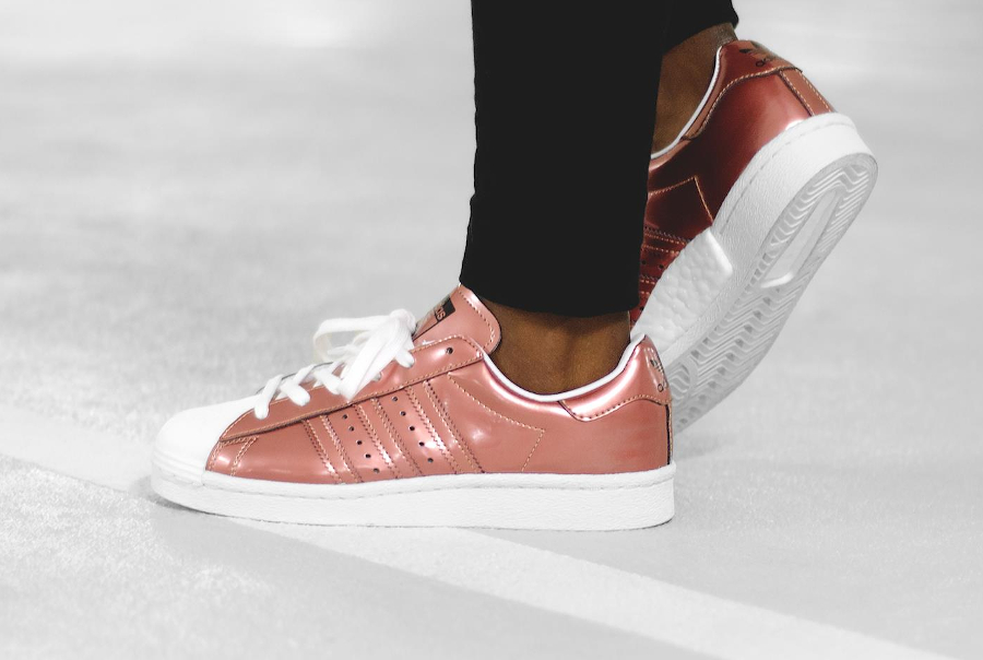 Chaussure Adidas Superstar Boost W Bronze Copper Metallic (femme)