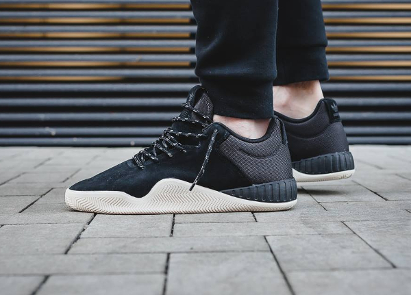 Chaussure Adidas Tubular Instinct Low Suede Core Black (daim noir) (3)