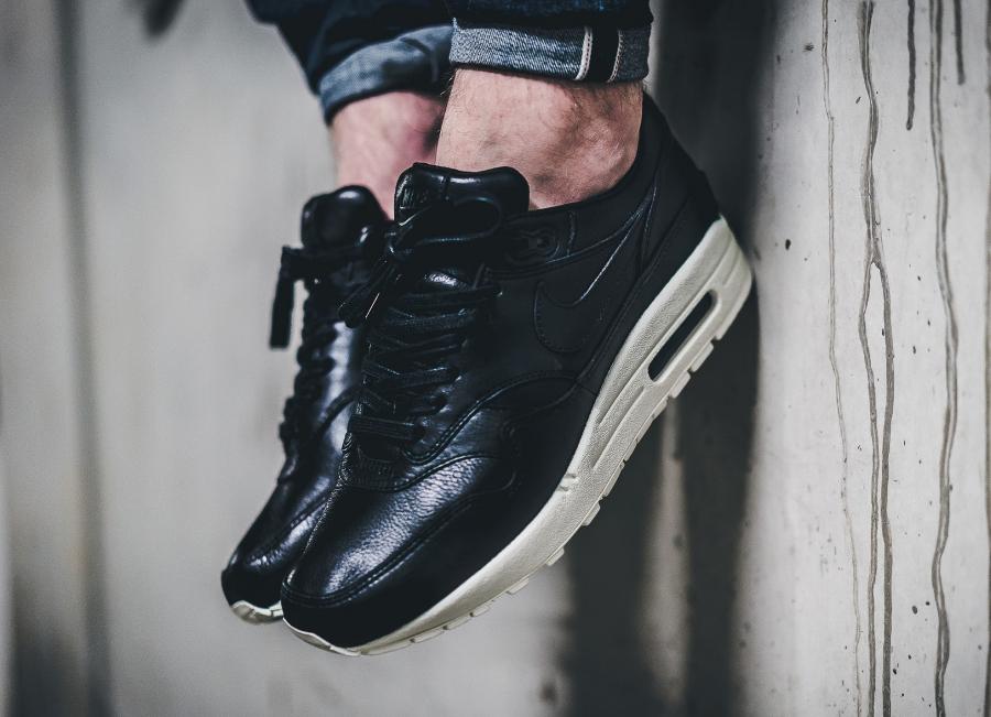 Chaussure Nike Air Max 1 Pinnacle Black (cuir premium noir) (3)