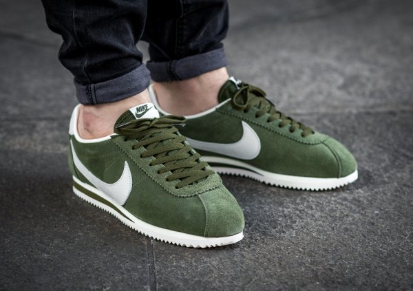best sneakers 5f996 c0b1b Chaussure Nike Cortez Leather SE Legion Green (daim vert) homme