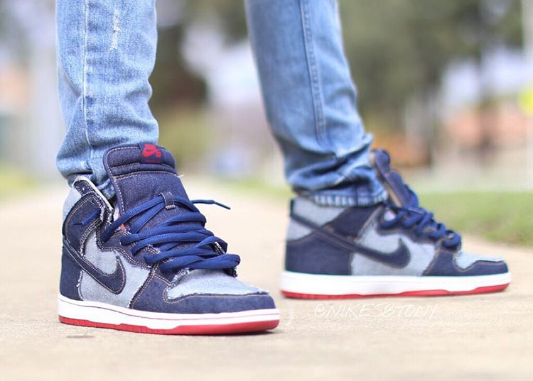 Chaussure Nike Dunk High Pro SB OG Denim Reese Forbes (15th anniversary) (1)