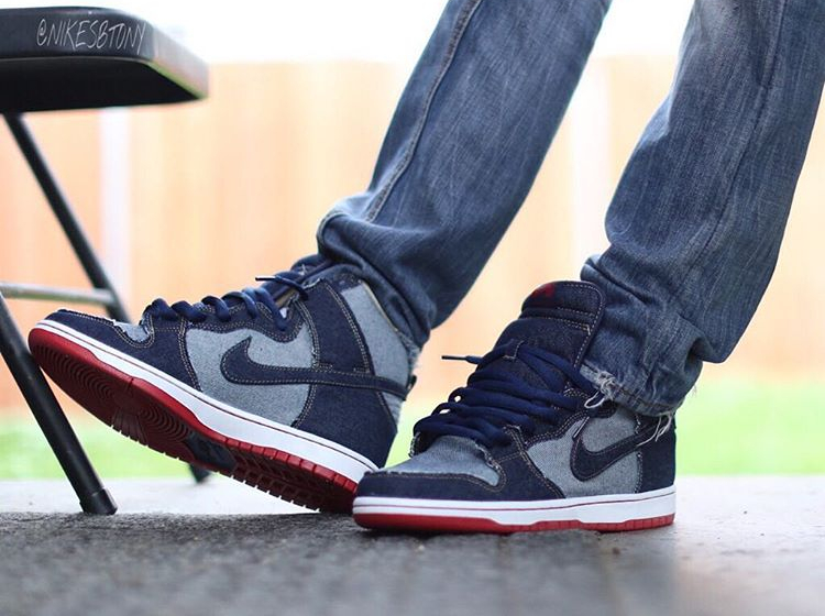 Chaussure Nike Dunk High Pro SB OG Denim Reese Forbes (15th anniversary) (2)