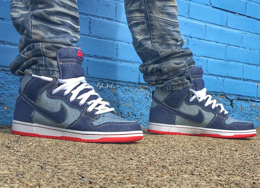 Chaussure Nike Dunk High Pro SB OG Denim Reese Forbes (15th anniversary) (3)