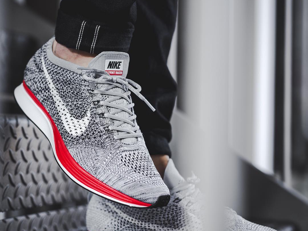 Chaussure Nike Flyknit Racer Grise No Parking Little Red