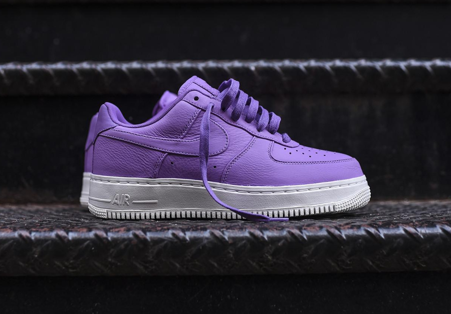 Chaussure NikeLab Air Force 1 Low Purple Stardust (cuir violet) (1)