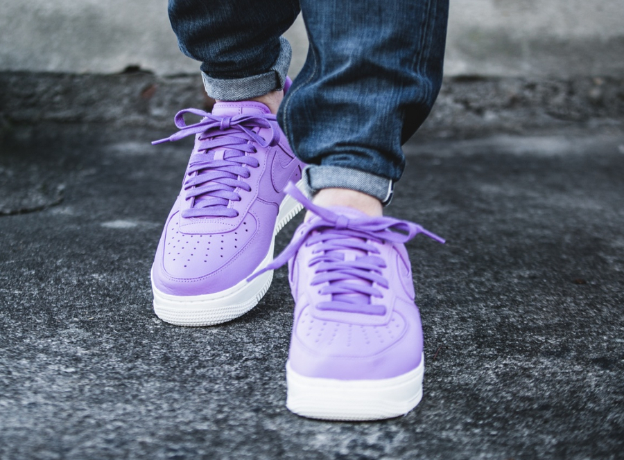 Chaussure NikeLab Air Force 1 Low Purple Stardust (cuir violet) (3)