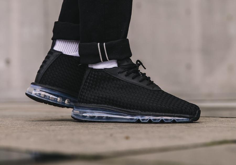 Chaussure NikeLab Air Max Woven Boot Noire Triple Black (homme)