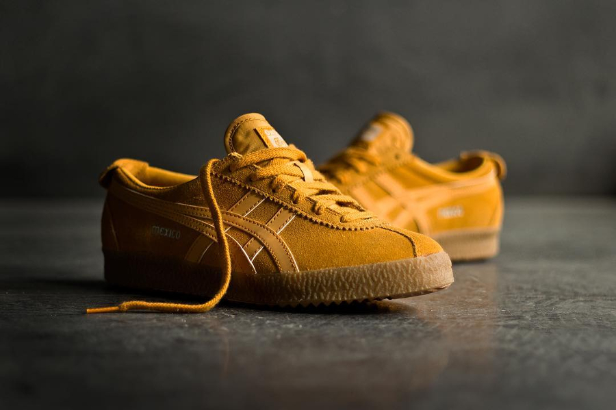 Chaussure Onitsuka Tiger Mexico Delegation Wheat Golden Yellow (daim jaune) (1)