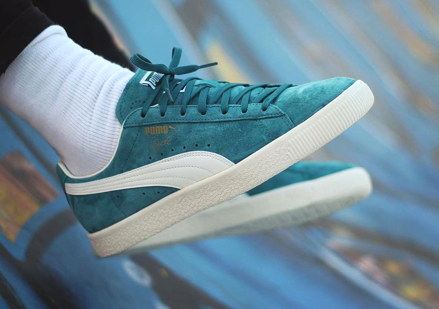 Chaussure Puma Clyde Premium Core Harbor Blue (4)