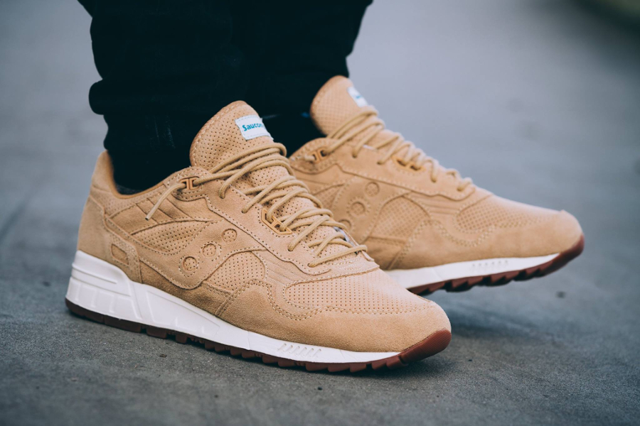 Chaussure Saucony Shadow 5000 Wheat Suede (Perf pack) (1)