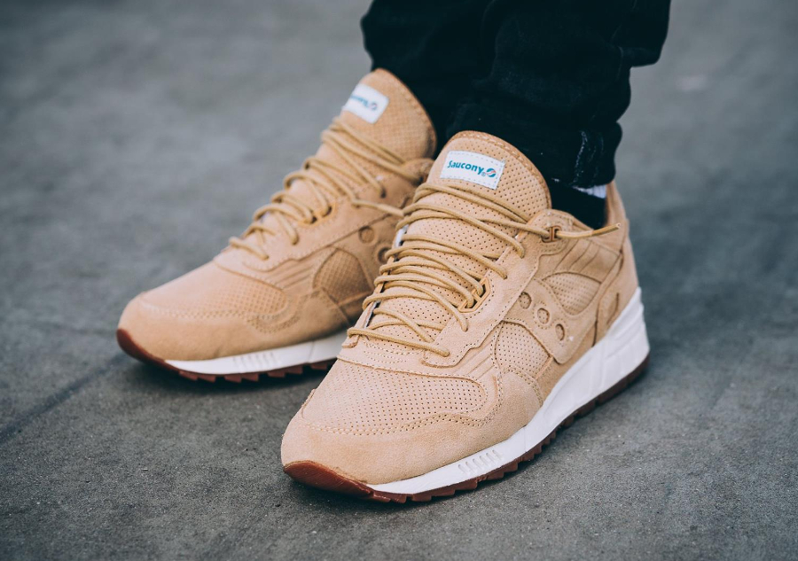 Chaussure Saucony Shadow 5000 Wheat Suede (Perf pack) (2)