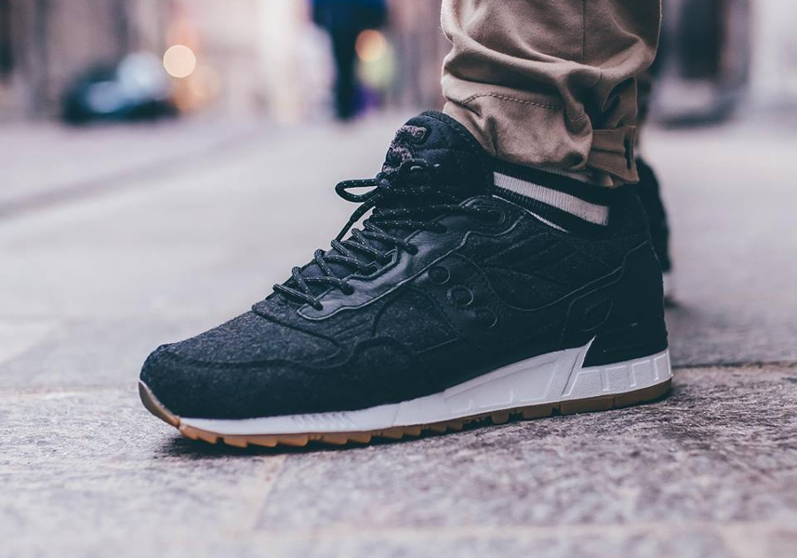 Saucony Shadow 5000 Wool Letterman II Black Gum (laine noire) (1)