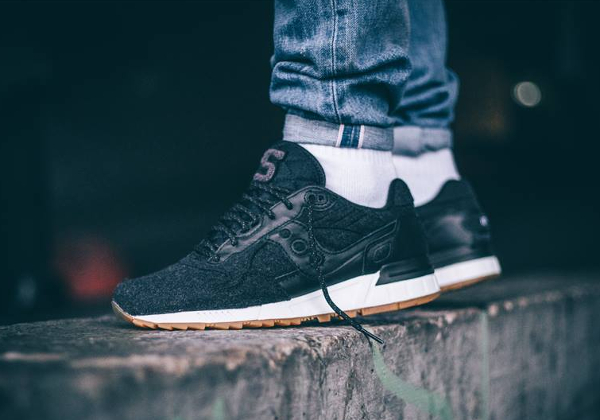 Saucony Shadow 5000 Wool Letterman II Black Gum (laine noire) (2)