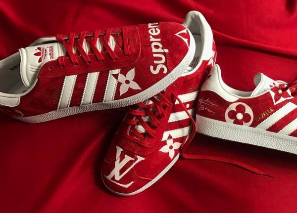 Supreme x Louis Vuitton x Adidas Gazelle - @johnborn