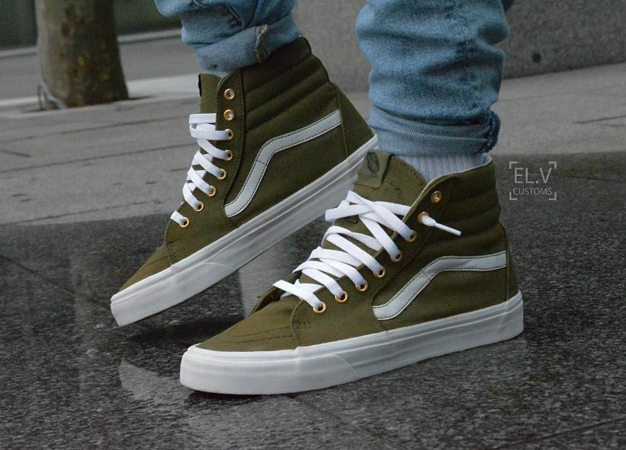 Vans SK8 Hi Burn Olive - @elvcustoms