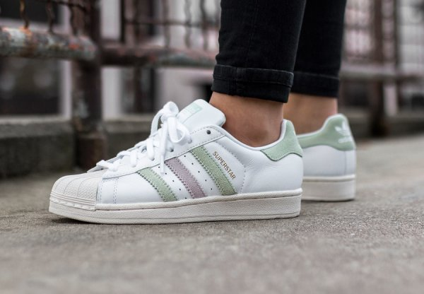 Basket Adidas Superstar W Vintage Linen Green (1)