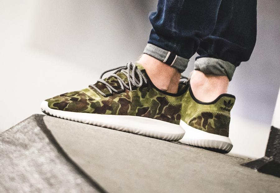 Adidas Tubular Shadow Suede 'Camo' (militaire)