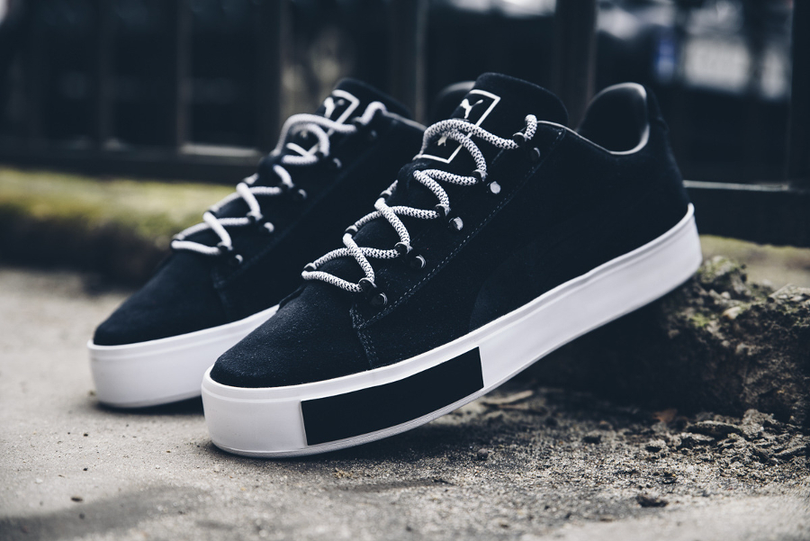 Basket Daily Paper x Puma Court Platform Black (1)